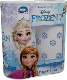 Ooops! Disney with continuously varying characters – kitchen paper towel