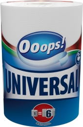 Ooops! Universal 1-roll, 350-sheet – Kitchen paper towel (2-layer)