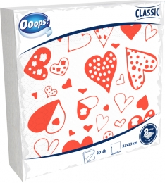 Ooops! Classic 20 pieces patterned napkin (2-ply)
