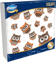 Ooops! Excellence 20 pieces patterned napkin (3-ply)