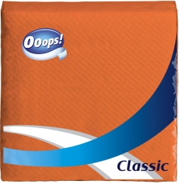 Ooops! Classic – Serviette orange (1-layer)