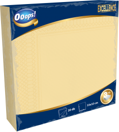 Ooops! Excellence 20 pieces unicolor napkin (3-ply)