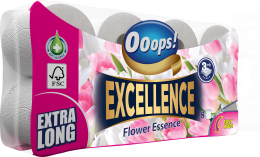 Ooops! Excellence Flower Essence – toilet paper (3-ply)