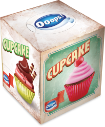 Ooops! Classic Cupcake – boxed papertissue 54 (3-ply)