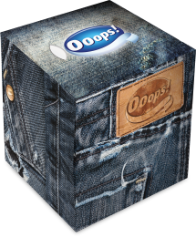 Ooops! Classic New Jeans – boxed papertissue 54 (3-ply)