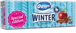 Ooops! WINTER - paper tissue (3-ply, 10 packs)