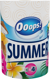 Ooops! SUMMER Household paper towel (200 sheets, 2-ply)