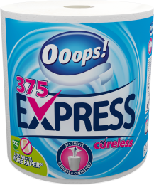 Ooops! Express (375 sheets) – Household paper towel (2-ply)